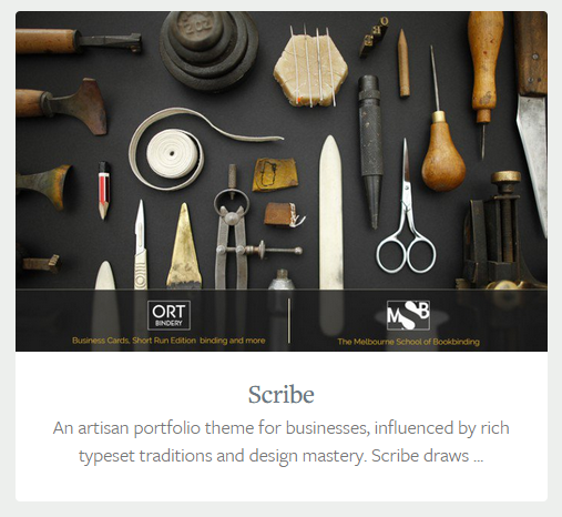 Upfront theme, Scribe