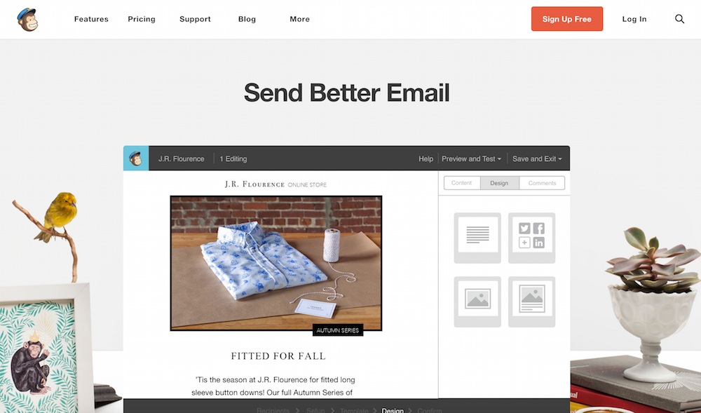 mailchimp homepage demo