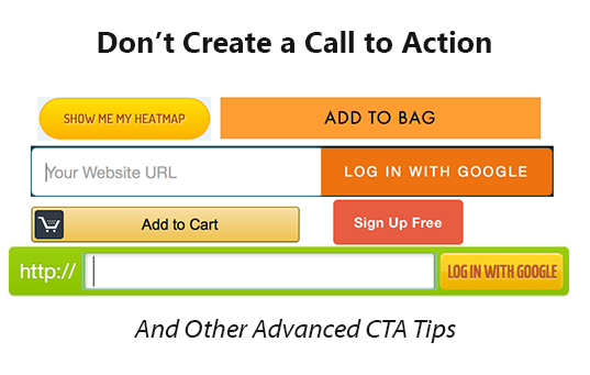 cta - dont call to action
