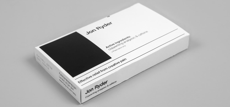 jon ryder copywriter medication drugs