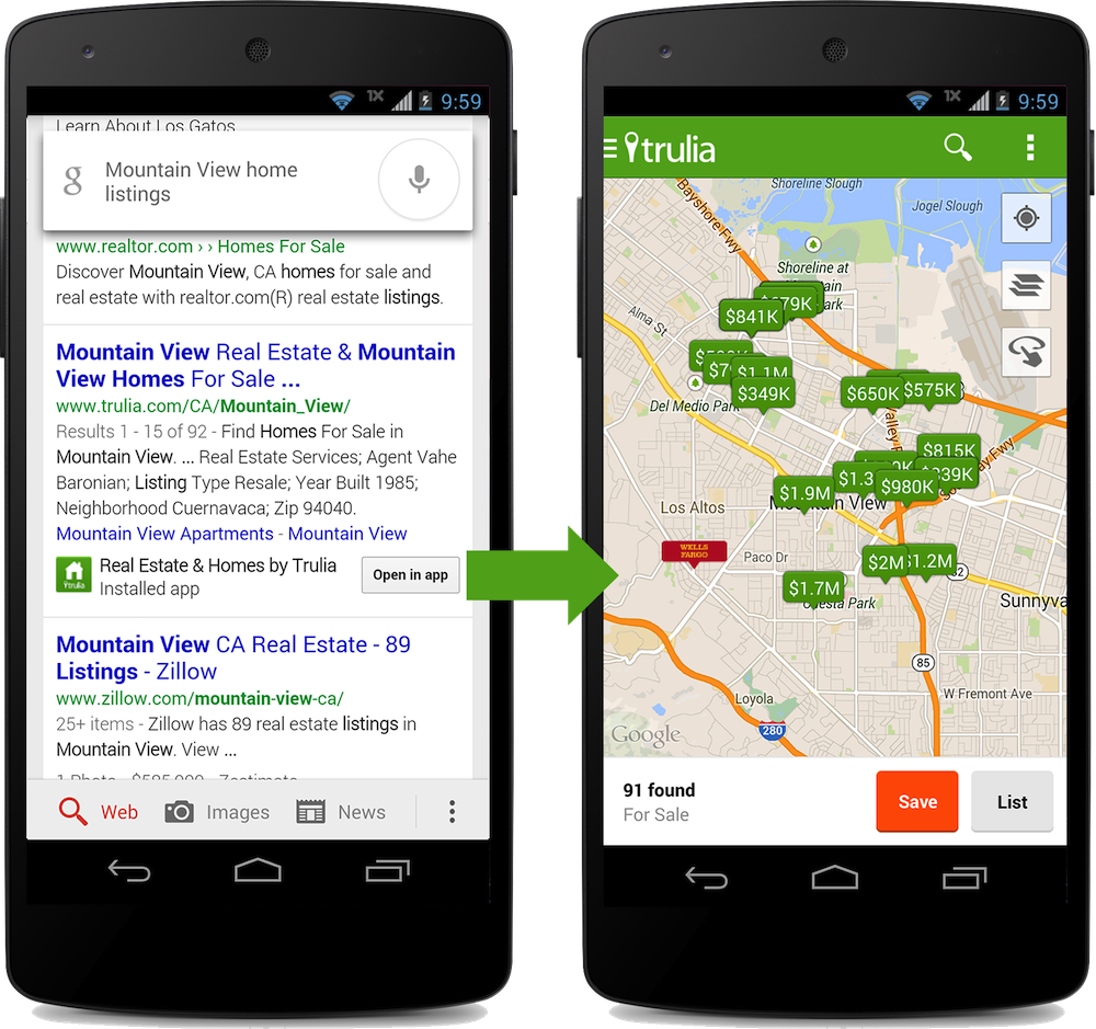 App Indexing in the Search Results