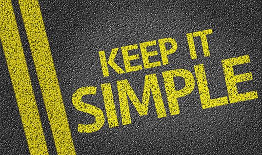 Keep It Simple written on the road