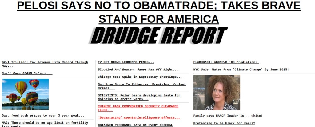 drudge report design