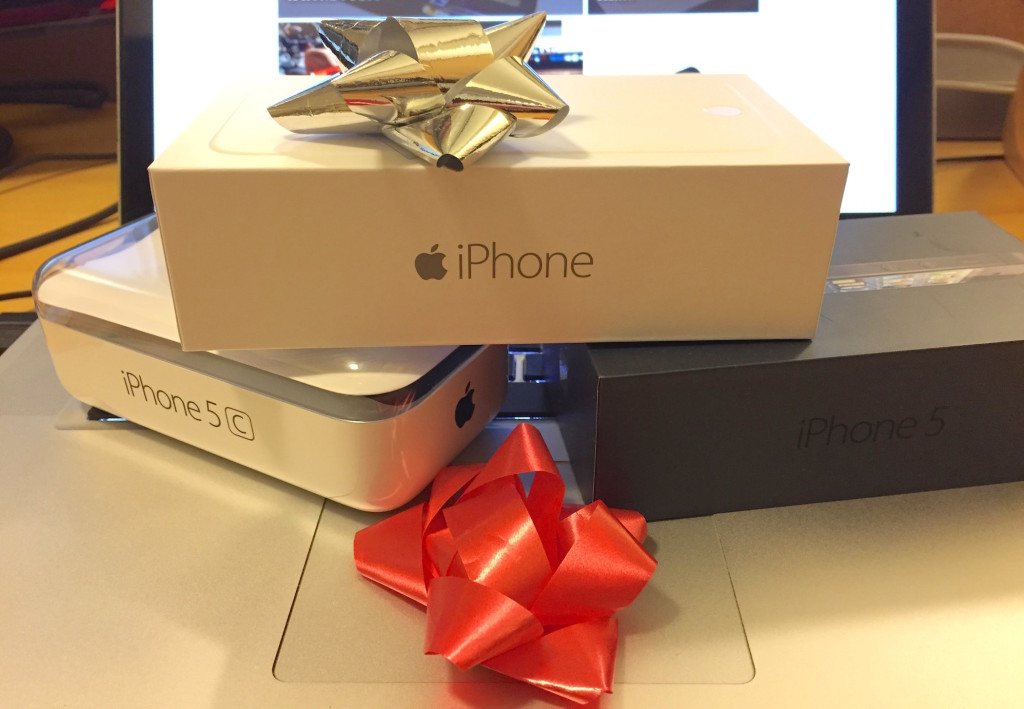 gift wrapped iphone 5c