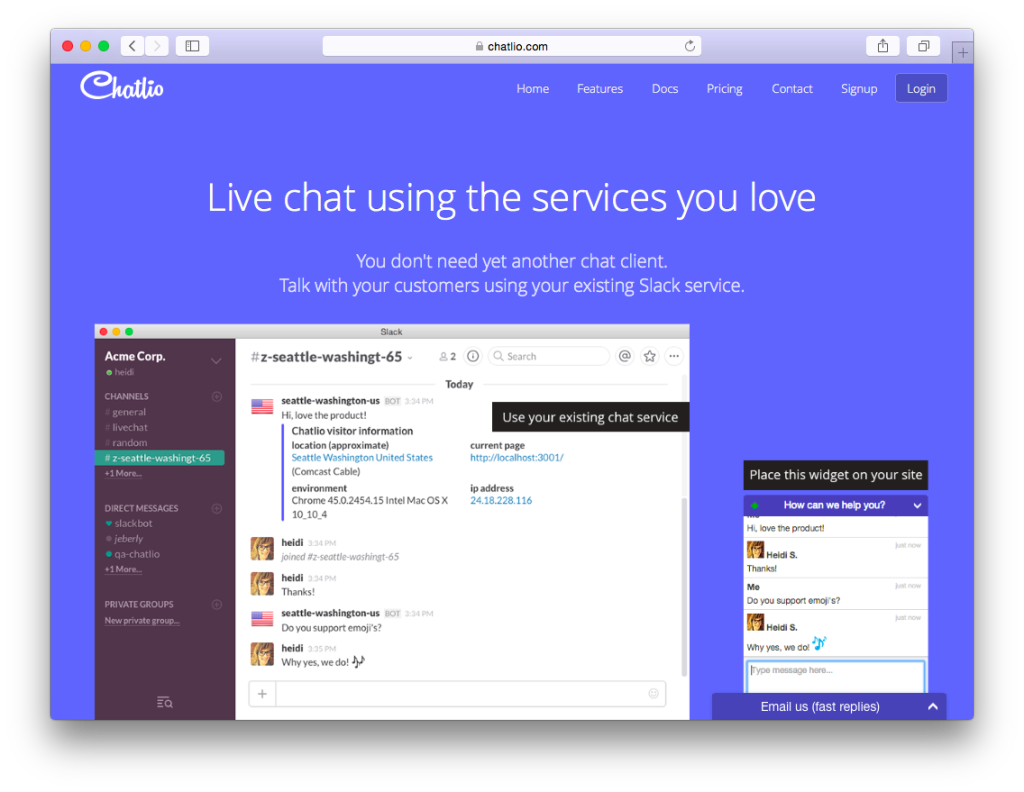 chatlio live chat software