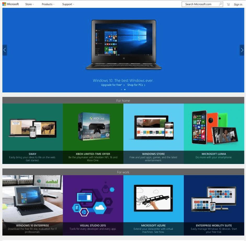 microsoft-homepage-screenshot