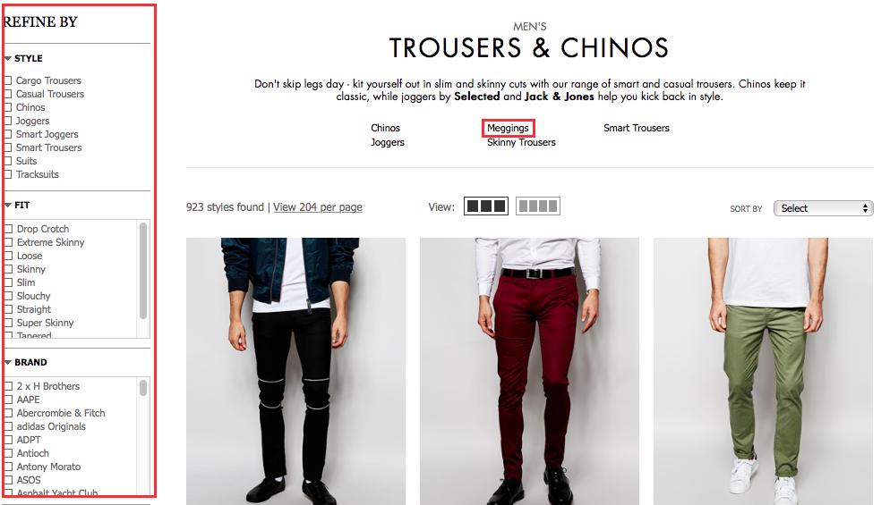 Regular ecommerce clothes store