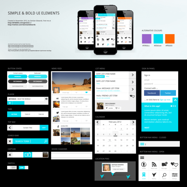 11 resources to help you create a flat design responsive site for Easy app design