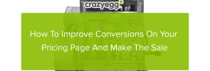 improve conversion on pricing page