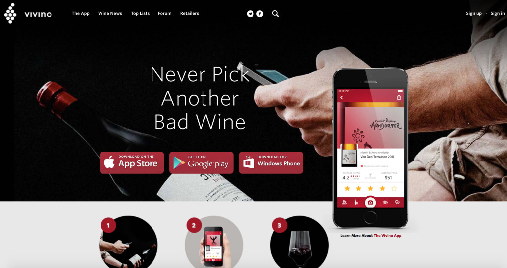 Vivino phrases its brand's biggest benefit as a mistake avoided