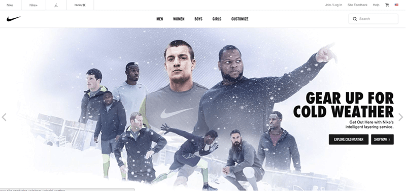 nike-homepage-example