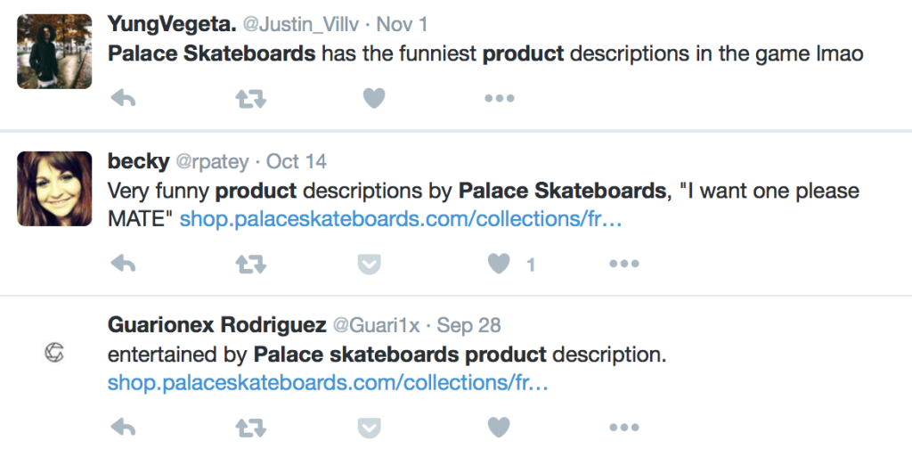 product descriptions social proof palace skateboards