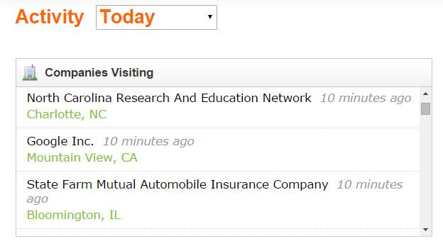 companies visiting