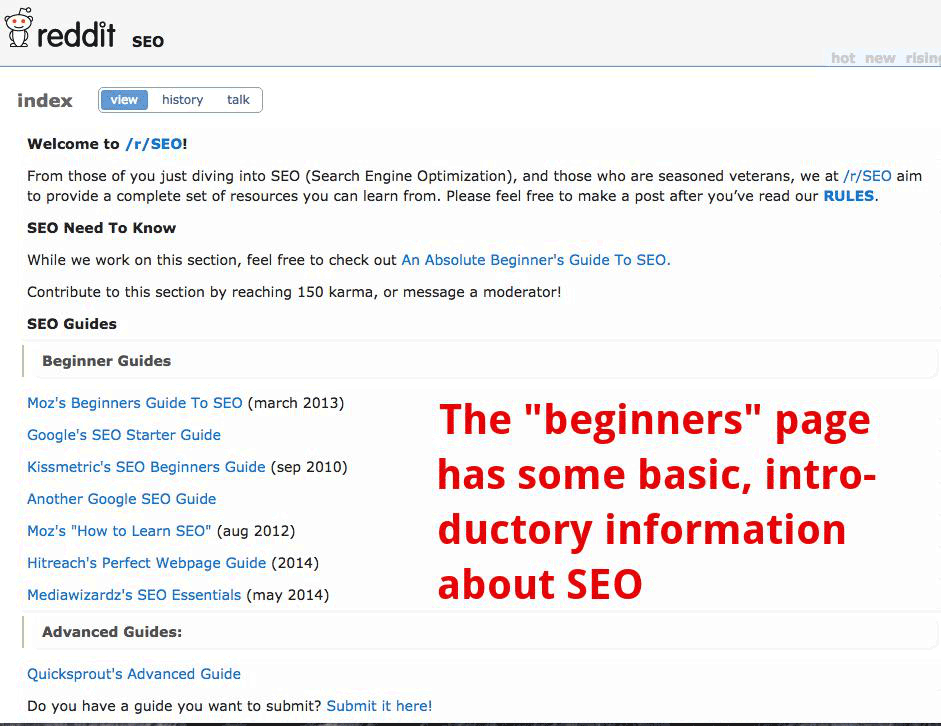 reddit-welcome-seo