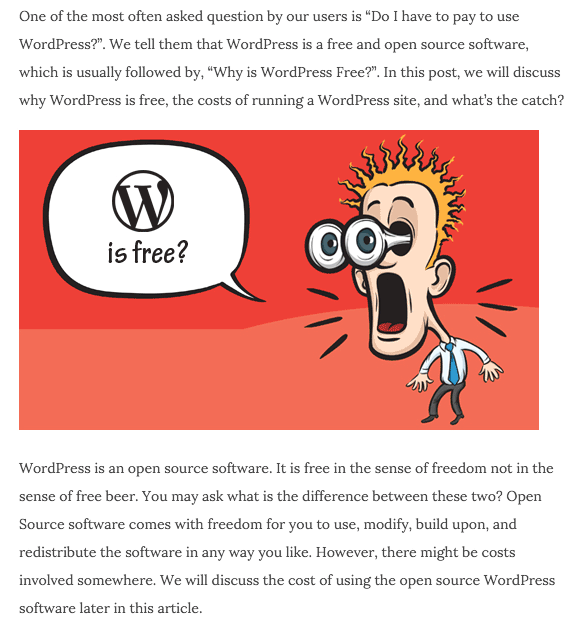 wordpress-is-free