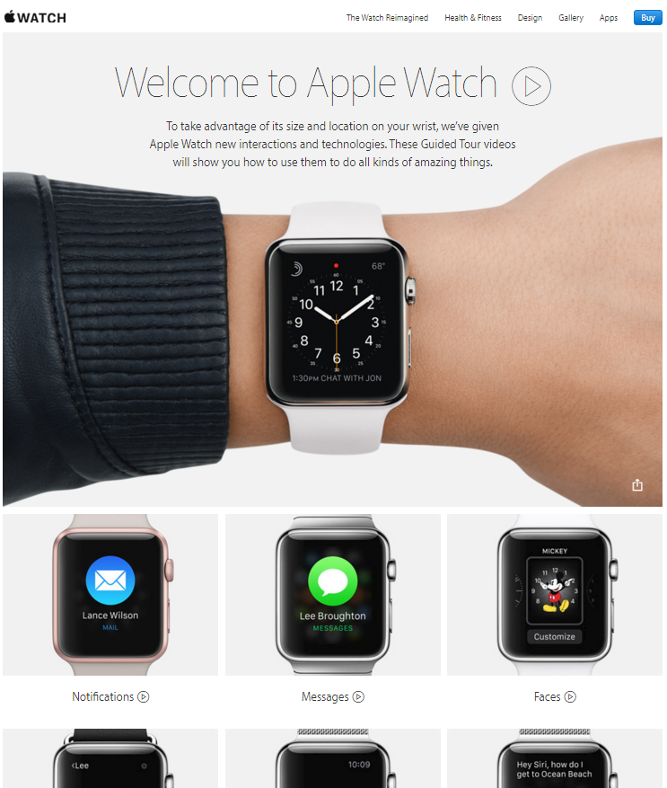apple watch tours