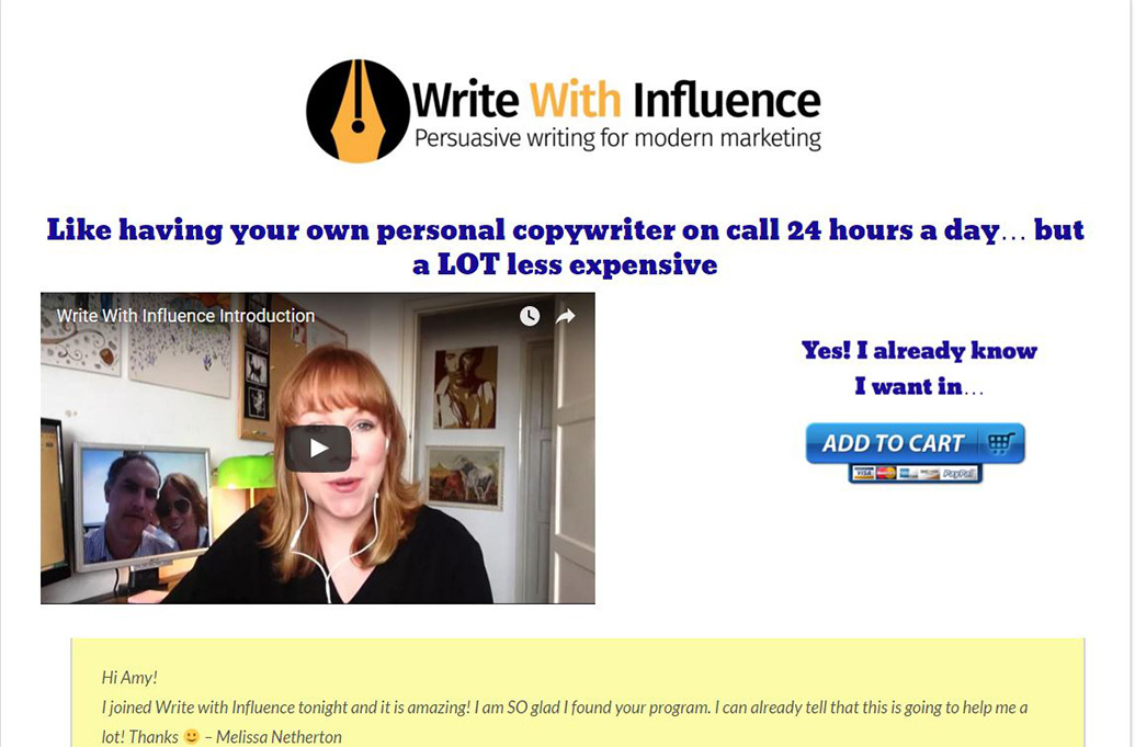 write the influence