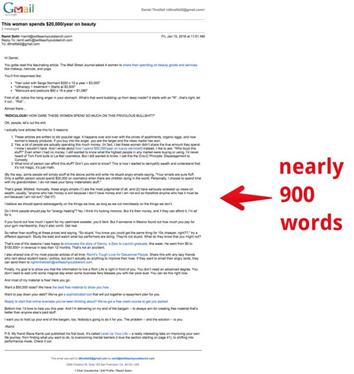 900 word email