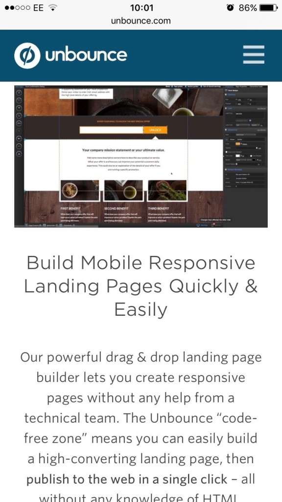 mobile optimization and the fold example