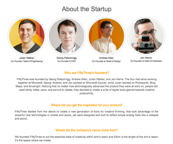 about the startup
