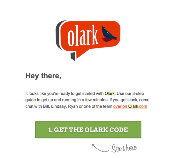 get the olark code