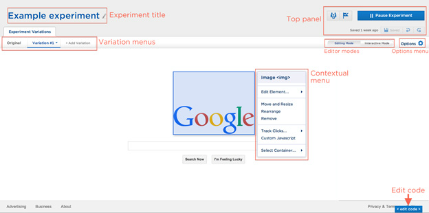 google example experiment