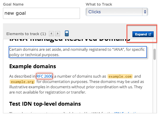 new goal example domains