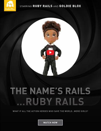 Ruby Rails Goldie Blox