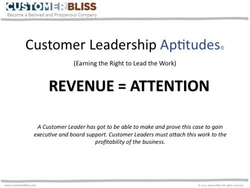 customer bliss revenue attention
