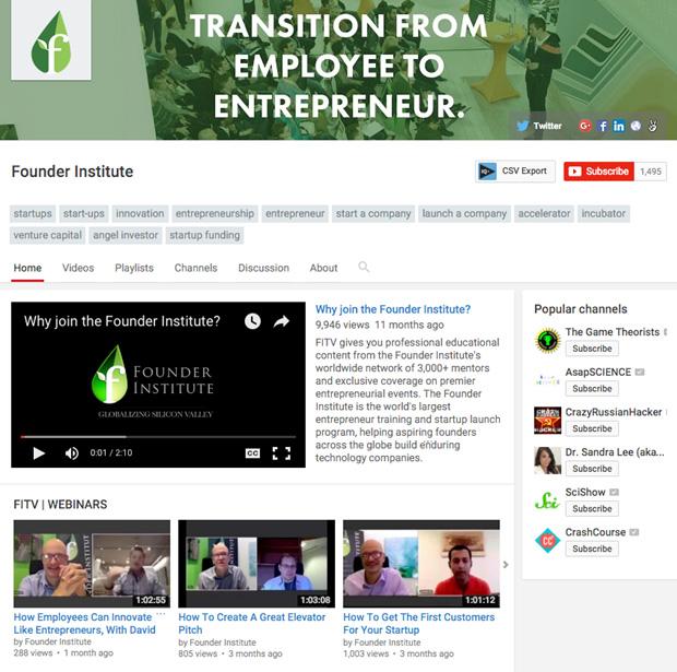 founder institute youtube