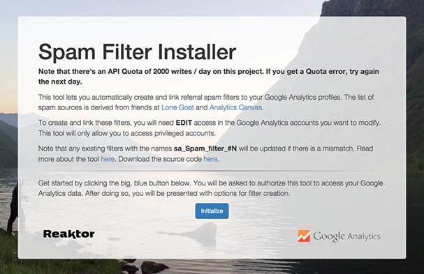 spam filter installer