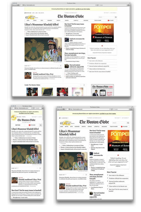 Boston Globe Responsive Web Design