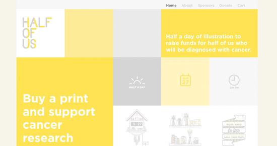 Half Of Us Website Design