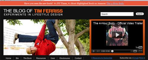 Tim Ferriss using the HelloBar