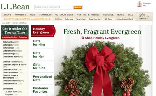 L.L. Bean Christmas Shipping