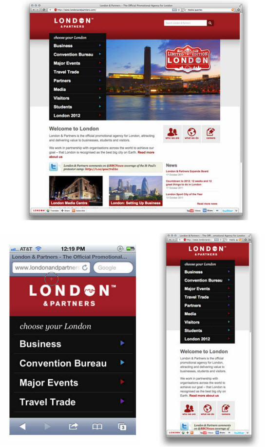 London and Partners Responsive Design