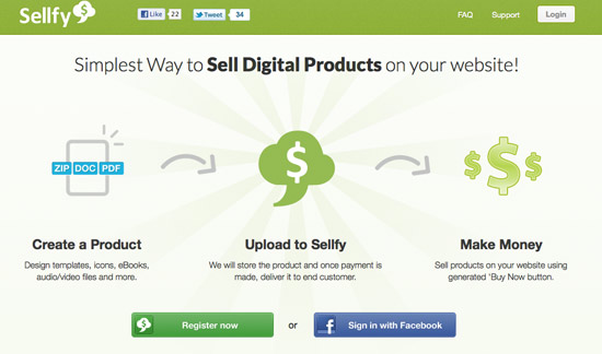 Sellfy Website Design