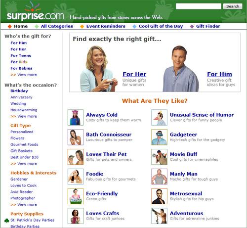 Surprise.com recommendations