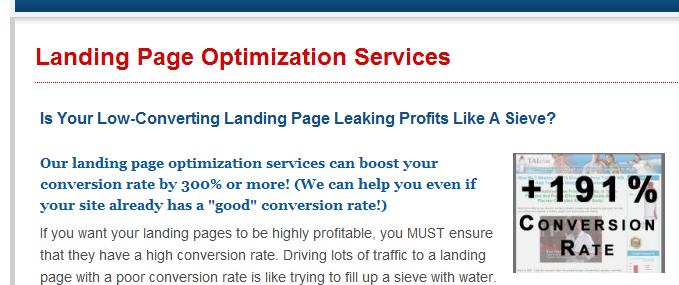 landing page conversion page