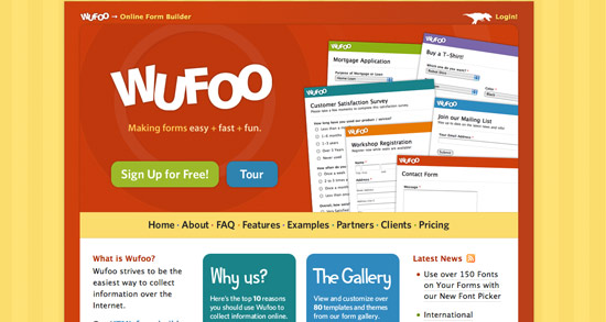 Wufoo Website Header