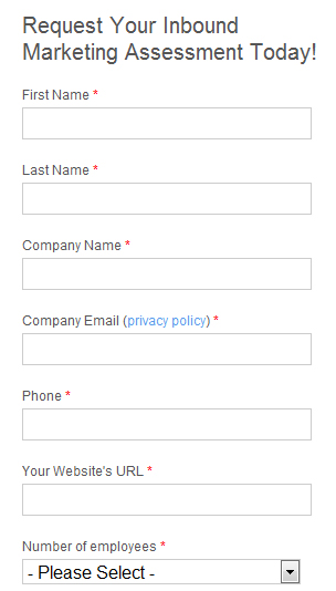 Hubspot Leadgen Form