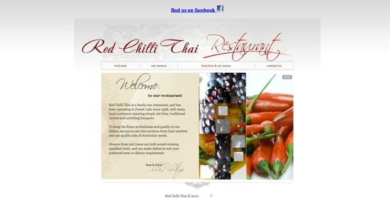 Red Chilli Thai Home Page