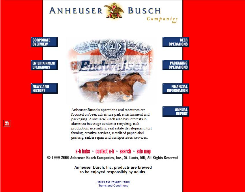 Anheuser Busch Website