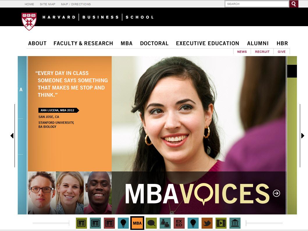 Harvard Business School Website Design Critique