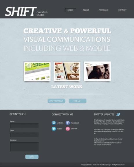 Design A Portfolio Website Photoshop And The 960 Grid System