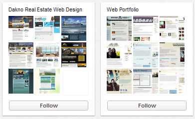 Pinterest Web Design Portfolios