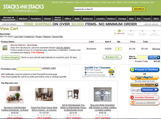 Stacks and Stacks checkout page