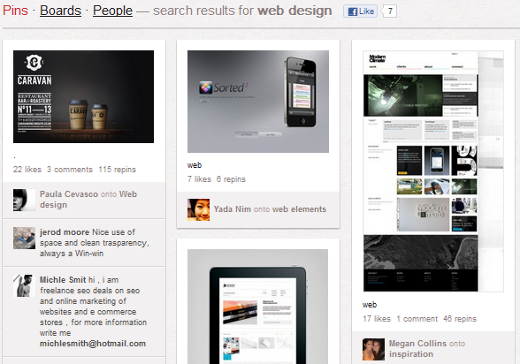 Web Design on Pinterest