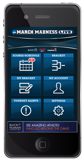 March Madness iPhone Application Navigation