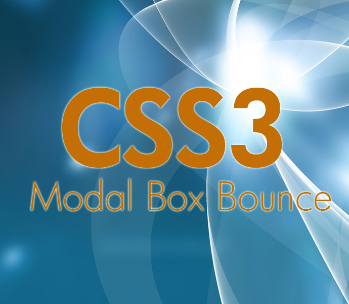 How To Create CSS3 Modal Box Bounce And Minimise Animation